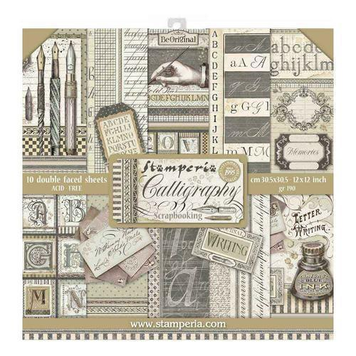 SET DE SCRAPBOOKING CALLIGRAPHY STAMPERIA 30X30CM