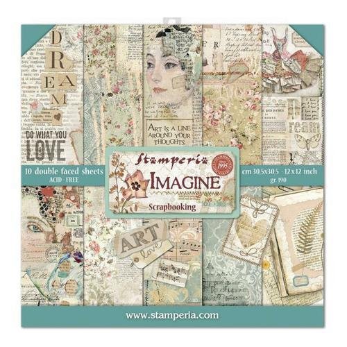 KIT DE PAPELES SCRAP STAMPERIA 30,5X30,5 IMAGINE