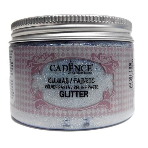 Pasta de Relieve Textil GLITTER Plata 150ML