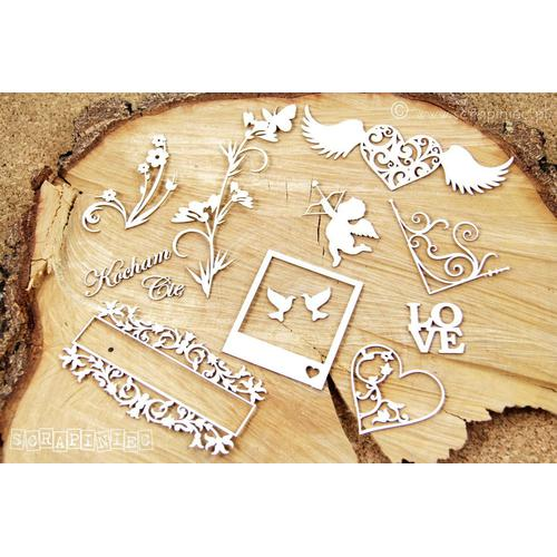 CHIPBOARD VARIADO AMOR