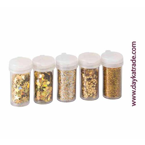 PACK 5 GLITTER-MIX ORO