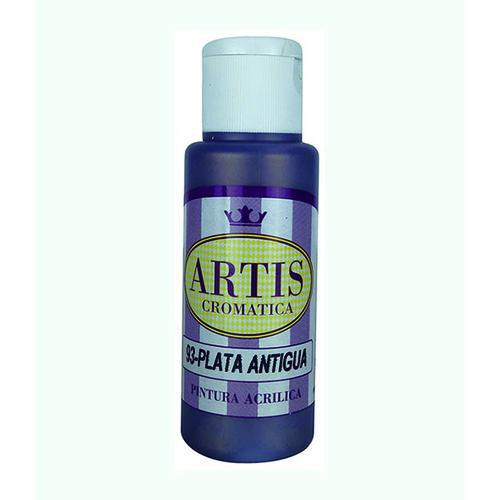 "ACRILICO ""ARTIS"" PLATA ANTIGUA 60ml."