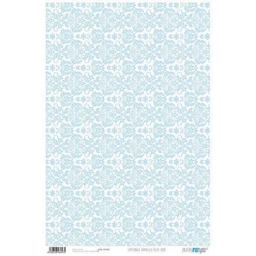 PAPEL CARTONAJE ARABESCO AZUL PAPER FOR YOU 32×48,3cm