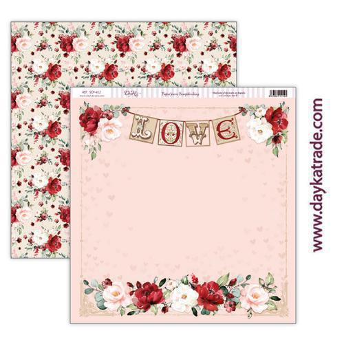 "Papel scrap amor y amistad – colección ""Love makes us fly"" scp-412"
