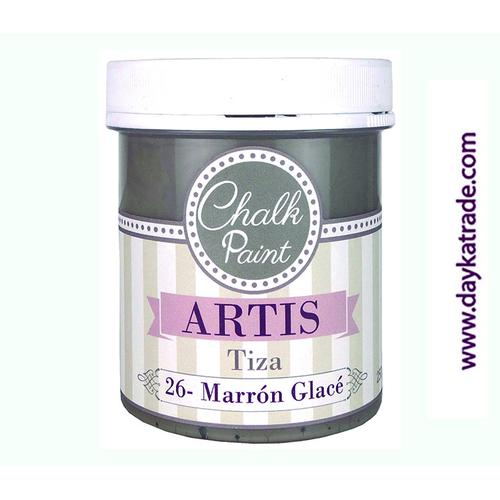 PINTURA TIZA 100ml MARRON GLACE