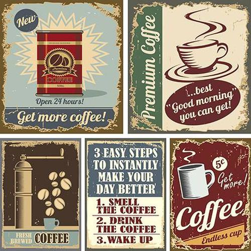 PAPEL SUBLIMACION ARTIS DECOR 30X30CM ''RETRO COFFEE''