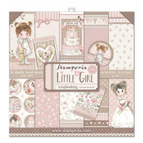 KIT DE SCRAPBOOKING LITTLE GIRL STAMPERIA 30X30CM