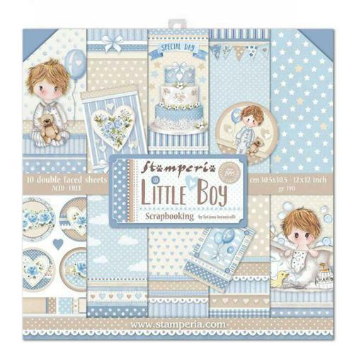 KIT DE SCRAPBOOKING LITTLE BOY STAMPERIA 30,5X30,5CM