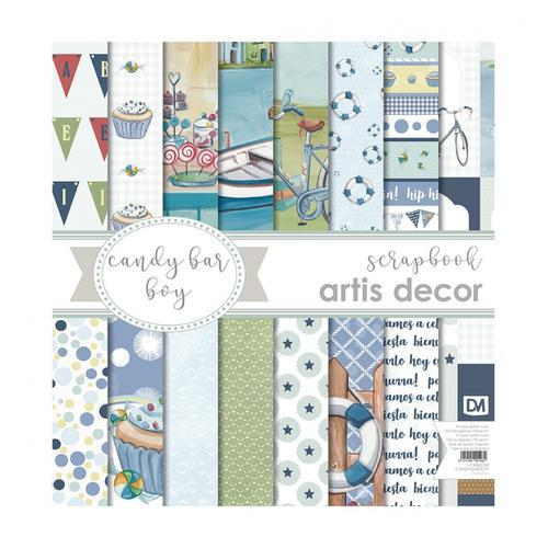 KIT DE PAPELES ARTIS DECOR 30,5X30,5 CANDY BAR BOY