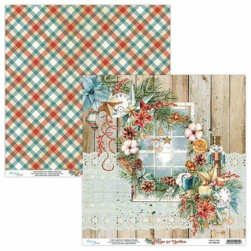 PAPEL 01 HOME FOR CHRISTMAS MINTAY 30X30CM