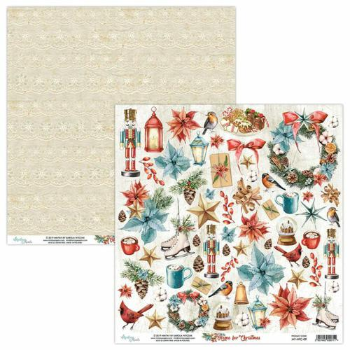 PAPEL RECORTABLES 07 HOME FOR CHRISTMAS MINTAY 30X30CM