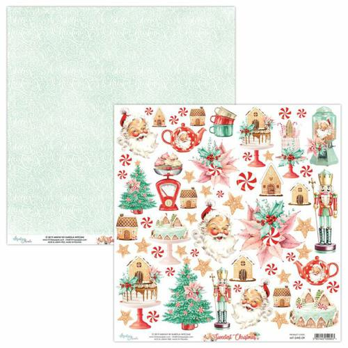 PAPEL RECORTABLES 07 SWEETEST CHRISTMAS MINTAY 30X30CM