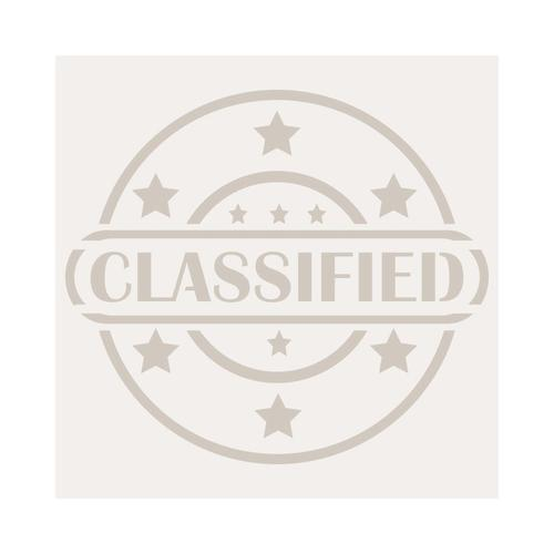 Plantilla-Stencil Mini Deco Figura 026 Classified