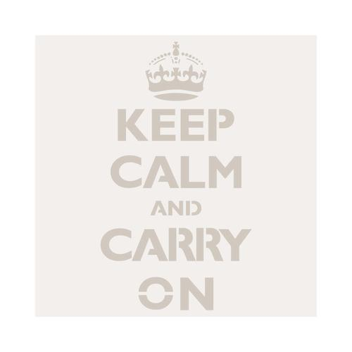 Plantilla-Stencil Mini Deco Figura 056 Keep Calm