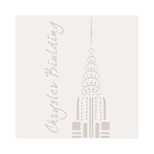 Stencil Mini Deco Figura 095 Chrysler Building