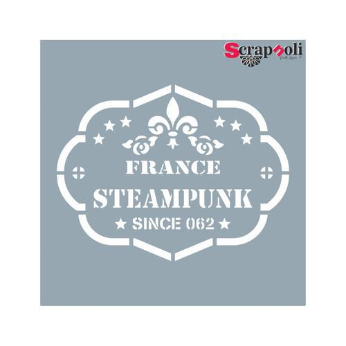 "Plantilla-Stencil Sello 2 ""France Steampunk"""