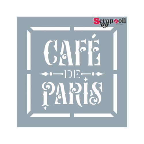 "Plantilla-Stencil Sello 9 ""Café de Paris"""