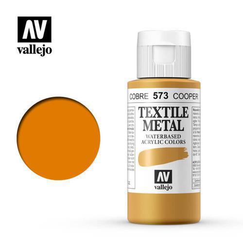 PINTURA TEXTIL METALIZADA COBRE VALLEJO 60ML