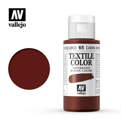 PINTURA TEXTIL MARRÓN OSCURO VALLEJO 60ML